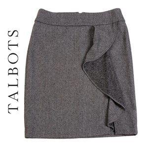 Talbots Gray and Black Pencil Skirt EUC
